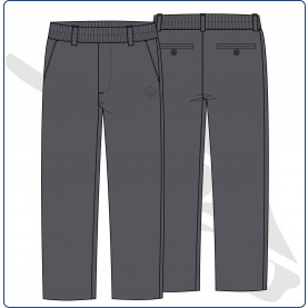 PANT UNIF INF GRIS 15 POL/VIS MONTE TABOR